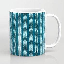 Mud cloth Teal Arrowheads Coffee Mug