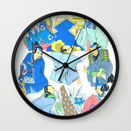 Japan Traditional Feminine Garment, second version Wall Clock