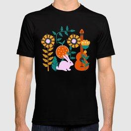 Music and a little rabbit T-shirt