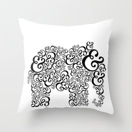 Ampersand Elephant Throw Pillow