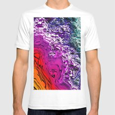 Purple Mountain Majesty White Mens Fitted Tee MEDIUM