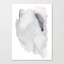 Winter Silent Elegance - Moody Abstract Watercolour Canvas Print