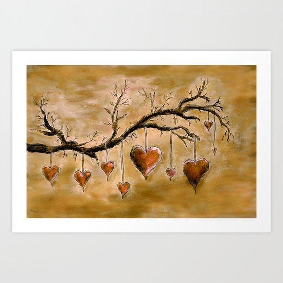 Der Liebesbaum (in Acryl) Art Print