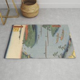 Summer River Mouth Ukiyo-e Japanese Art Rug