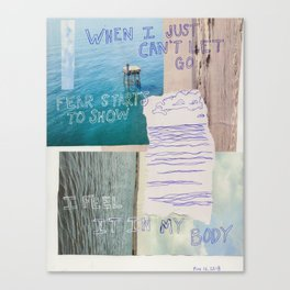 just can't let go Canvas Print