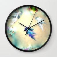 nursery Wall Clocks featuring Seahorse Nursery by Shalisa Photography