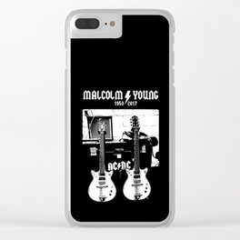 Malcolm Young - AC DC - Guitar - Rock Music - Pop Culture Clear iPhone Case