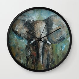 The Elephant | Oil Painting Wall Clock