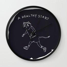 Relax Cat, A Healthy Start, Running Wall Clock