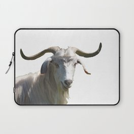 Portrait of a Horned Goat Grazing Vector Laptop Sleeve