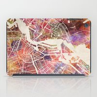 amsterdam iPad Cases featuring Amsterdam by MapMapMaps.Watercolors