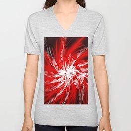 Dark Red Spiral Unisex V-Neck