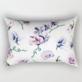 Lavender Blossom Floral Pattern Rectangular Pillow