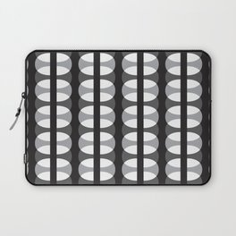 Geometric Pattern #186 (gray ovals) Laptop Sleeve