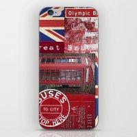 british flag iPhone & iPod Skins featuring Very British by LebensART