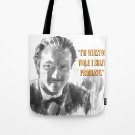 Winston Wolf in Pulp Fiction Tote Bag
