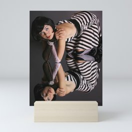 Stripes girl Mini Art Print