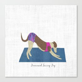 Downward Dog Canvas Print