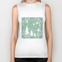 Lace Christmas pattern Biker Tank