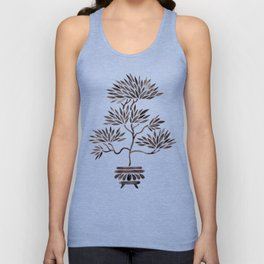 Bonsai Tree – Black Palette Unisex Tank Top