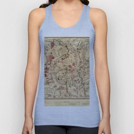 Map Of Yellowstone 1881 Unisex Tank Top