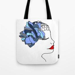 Blue Rose Headpiece Tote Bag