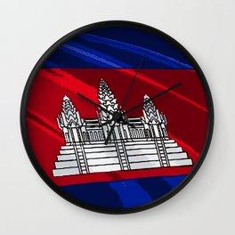 Cambodia Fancy Flag Wall Clock