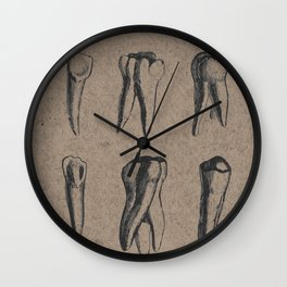 Diagram wall clocks society6 vintage dental diagram of teeth in black grey brown wall clock ccuart Choice Image