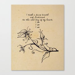 Sylvia Plath - I am Canvas Print