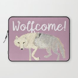 Totem Artic Wolf lilac Laptop Sleeve