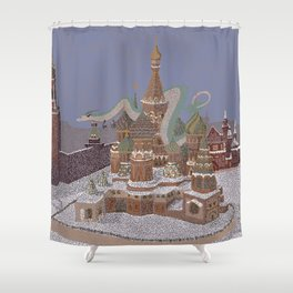 Haku, the guardian of the Kremlin Shower Curtain