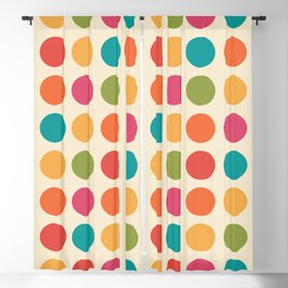 Mid Century Color Dots Blackout Curtain