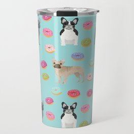 French Bulldog donuts cute dog breed must have gifts for frenchie owners Travel Mug