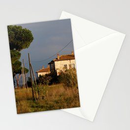 Sunny countryside in Italy Stationery Cards