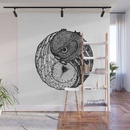 Yin Yang Owls Wall Mural