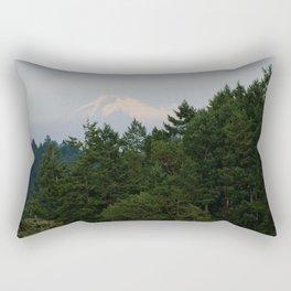 A glimpse at Mount Baker, WA Rectangular Pillow