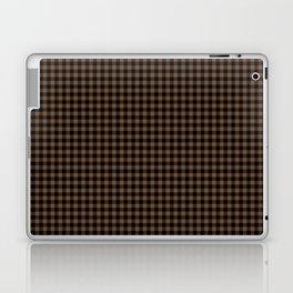 Mini Black and Brown Coffee Cowboy Buffalo Check Laptop & iPad Skin