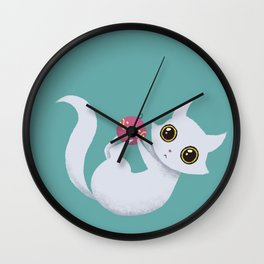Mischievous kitty Wall Clock