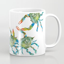 Watercolor Atlantic Blue Crab Coffee Mug