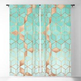Soft Gradient Aquamarine Blackout Curtain