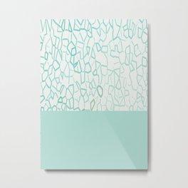 Abstract on Turquois Metal Print