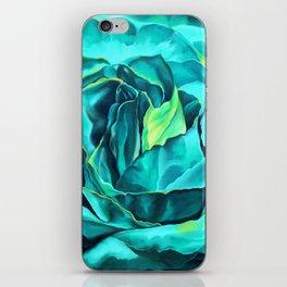 Turquoise Rose, green roses, flower art, dia de los muertos iPhone Skin