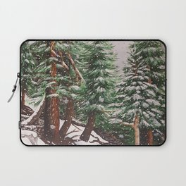 Snowing at Mount Baldy Laptop Sleeve
