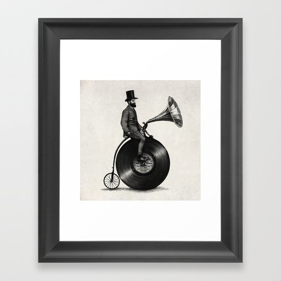 Music Man (monochrome option) Framed Art Print