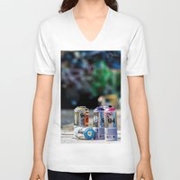 graffiti V-neck T-shirts featuring Graffiti by CLiPiCs