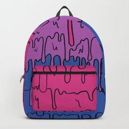 Pastel Kawaii Melting Bisexual Pride LGBTQ Design Backpack