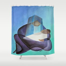 Mary and The Baby Messiah Shower Curtain