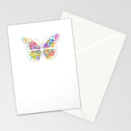 Pansexual Butterfly print Streetwear Graffiti Hand Drawn Stationery Cards