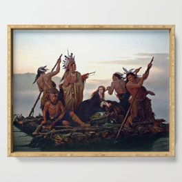 The Abduction of Boone's Daughter by the Indians Serving Tray