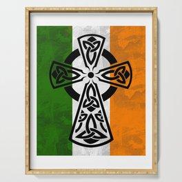 Irish flag -CelticCross St. Patricks Day Perfect Gift Shirt Serving Tray